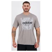 Camiseta Adidas Smart Camo Cinza