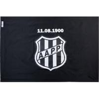 6efe57a382000 Bandeira Licenciados Futebol Ponte Preta 3 Panos (192X135) Frente E Verso  Preta Branca