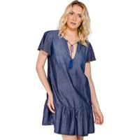 4674e03908 CEA  Vestido Jeans Babado Colcci - Feminino-Azul
