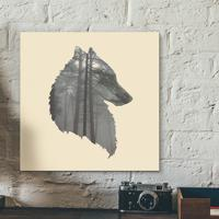 Placa Decorativa - Wild Wolf