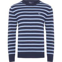 Blusa Masculina Moletom Fine Stripe - Azul
