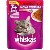 Ração Para Gatos Whiskas Jelly Adulto 7+ Anos Sachê Sabor Carne 85G Nova Textura