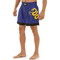 Shorts De Muay Thai Bordados Laterais - Masculino