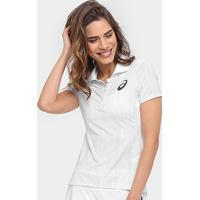 f8f5ac532f43a ... Camiseta Polo Asics Tennis Racer Feminina - Feminino-Branco