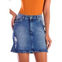 Saia Sisal Jeans Mini Jeans Estonado