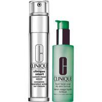 Kit Clinique Sabonete Líquido + Anti-Idade Para Olhos Liquid Facial Soap Oily Skin + Smart Custom - Unissex-Incolor