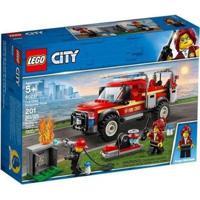 Lego City Caminhão Do Chefe Dos Bombeiros 60231 - Masculino-Vermelho