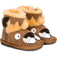 Emu Kids Bota Com Contraste - Marrom