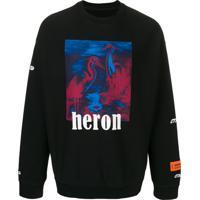 Heron Preston Moletom Com Estampa Heron - Preto