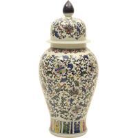Vaso Decorativo De Porcelana Com Tampa Sun