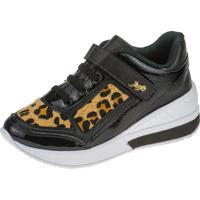 Tênis Sneaker Joys Shoes Calce Fácil Onça Preto