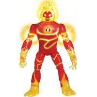 Mini Figura Articulada 10 Cm - Ben 10 - Heatblast - Com Luzes - Sunny - Masculino-Incolor