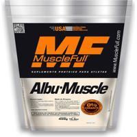 Albumina Albu-Muscle 450Gr - Musclefull - Sabor Morango