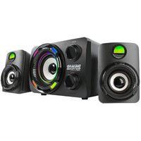 Subwoofer Gamer K-Mex Stereo Ss9800 9.9W Rms, Canais 2.1, Led De 7 Cores, Preto - Ss9800U0001Cb1X