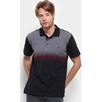 Camisa Polo Long Island Masculina - Masculino-Preto