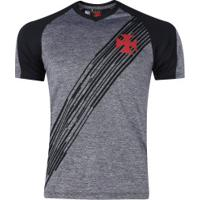 Camiseta Do Vasco Da Gama Motion - Masculina - Cinza/Preto