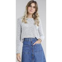 Suéter Feminino Em Tricô Cinza