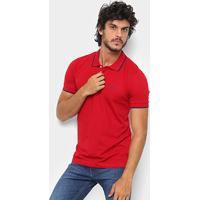 Camisa Polo Wrangler Friso Bordada Masculina - Masculino