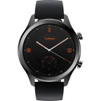 Relógio Ticwatch Smartwatch Masculino Ticwatch C2 Pxpx Caixa Aço Inoxidavel Preta Pulseira Couro Preta
