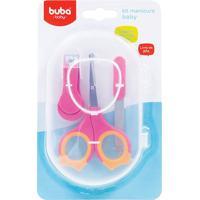 Kit Manicure Baby Rosa E Laranja - Buba