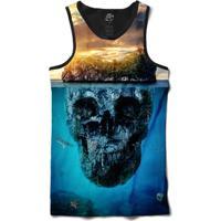 Camiseta Bsc Regata Mountain Skull Full Print - Masculino
