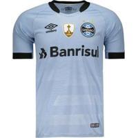 Camisa Umbro Grêmio Ii 2017 Jogador Libertadores Masculina - Masculino