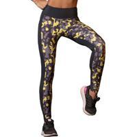 Legging Ns Fitness- Preta & Amarela- Hipkinihipkini