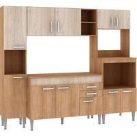 Cozinha Compacta Classic Flex 11 Pt 2 Gv Carvalho Com Blanche