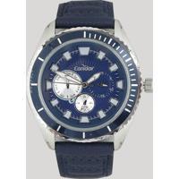 Relógio Analógico Condor Masculino - Co6P29Io2A Azul Escuro - Único