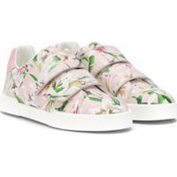 Dolce & Gabbana Kids Tênis Com Estampa Floral - Rosa