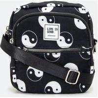 Bolsa Transversal Camera Bag Com Estampa Yin Yang
