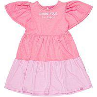 Vestido Marias Rosa Neon Com Lavanda Momi Mini