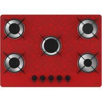 Cooktop 5 Bocas Casavitra Excellence E10E55537 Tetris Vermelho Se