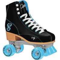 Patins Quad Elite Roller Derby Candi Girl Sabina - Feminino-Preto+Azul