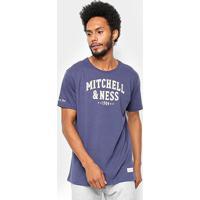 Camisa Mitchell & Ness Logo 1904 - Masculino-Marinho
