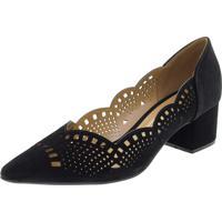 Sapato Feminino Salto Baixo Vizzano - 1220227 Preto 35