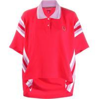 Tommy Hilfiger Camisa Polo Oversized - Vermelho