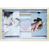 Quadro Para Fotos Mom Varal I Colorido 22X32Cm