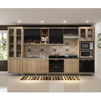 Cozinha Compacta Sicília 17 Pt 5 Gv Argila E Preto