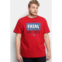 Camiseta Fatal Don'T Mess Plus Size Masculina - Masculino-Vermelho