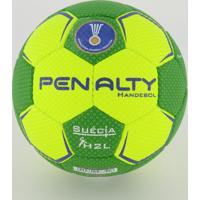 Bola Penalty Handebol Suécia H2L Ultra Grip Amarela E Verde