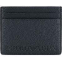 Emporio Armani Porta Cartões Com Logo - Preto