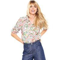 Camisa Meiling Floral Rosa