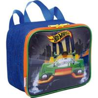 Lancheira Infantil Hot Wheels 19M Plus - Masculino-Azul