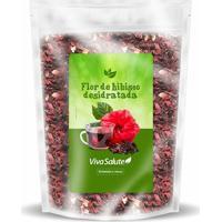 Flor De Hibiscus Para Chá Viva Salute Embalada A Vácuo - 400 G - Unissex-Sem Sabor