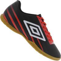 Chuteira Futsal Umbro Light Control Ic - Adulto - Preto/Vermelho