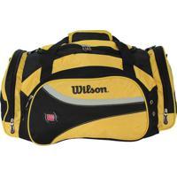 Bolsa Esportiva- Amarela & Preta- 20X52X32Cm- Wiwilson