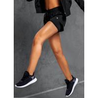 Shorts Preto Running Em Nylon