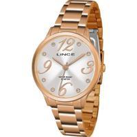 Relógio Lince Feminino Strass Analógico - Feminino-Dourado
