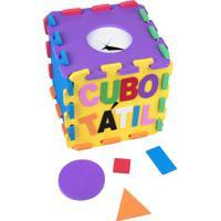 Brinquedo Cubo Tã¡Til - Amarelo & Azul- 22Pã§S - Ccarlu